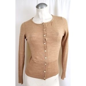 The Limited Size S Tan Cardigan